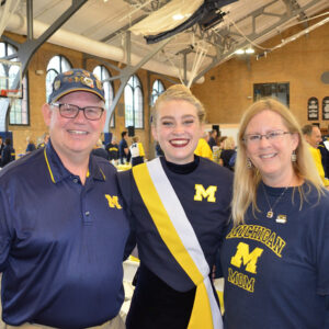 Amanda with her parents—Jerry Balogh and Lynn Halton