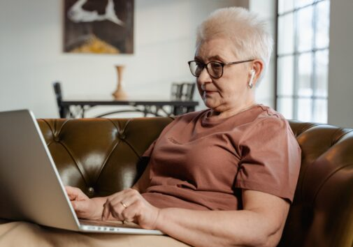 An older adult learning to use technology. Image credit: Pexels