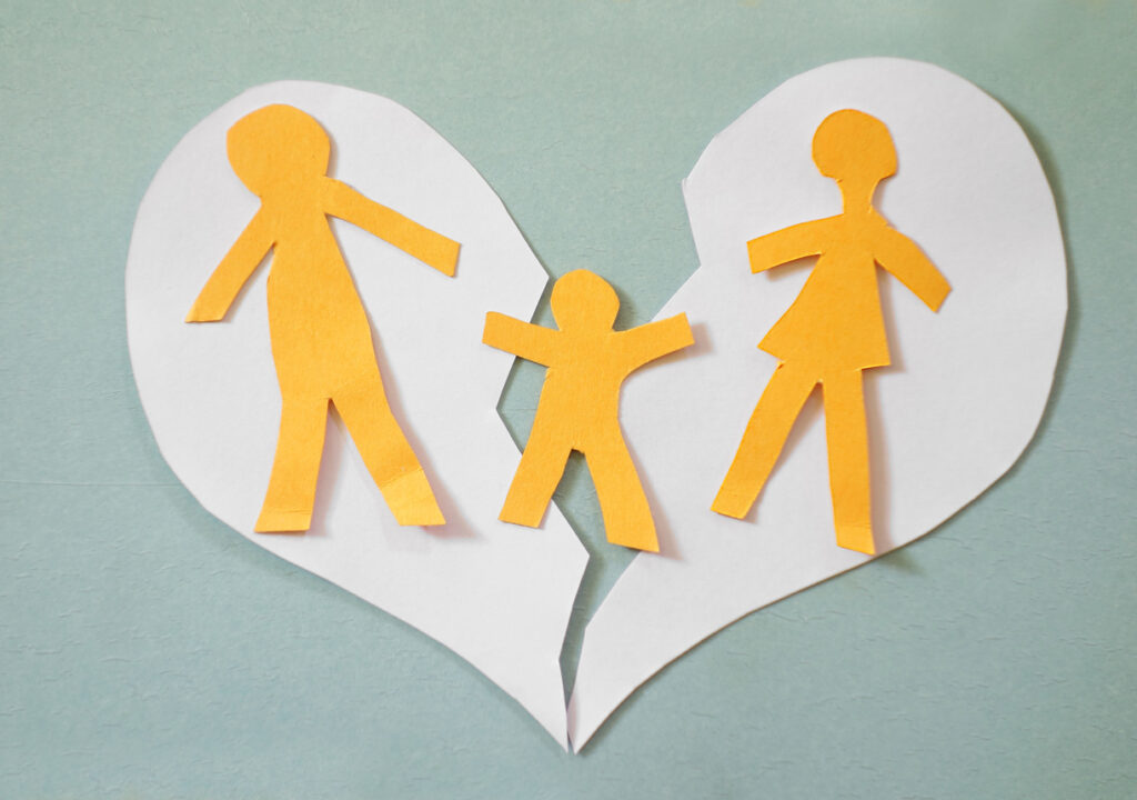 Concept image of family separation. Image credit: iStock