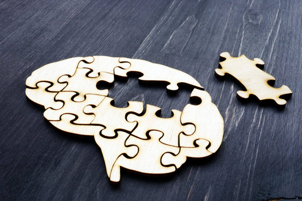 Concept image of mental health and problems with memory. Image credit: iStock