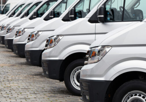 Electric delivery vans. Image credit: iStock