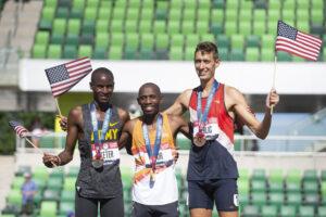 USA 3,000-meter steeplechase team. Image courtesy: Mason Ferlic