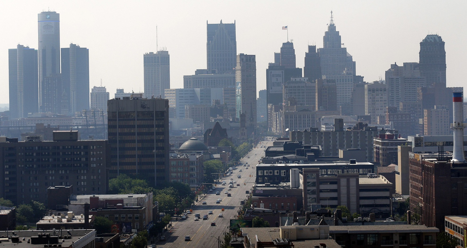 Aerial view of Detroit. Image courtesy DMACS