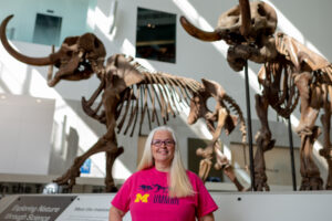 Jeanna Fox, outreach manager for the University of Michigan Museum of Natural History, connected with Garden City along with schools in Ypsilanti and Detroit. Image credit: Eric Bronson, Michigan Photography