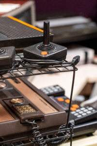 The Video Game Archive makes a wide range of over 50 consoles available for research and play, pictured here is the classic Atari 2600 (top), and the Intellivision (bottom). Image credit: Eric Bronson, Michigan Photography