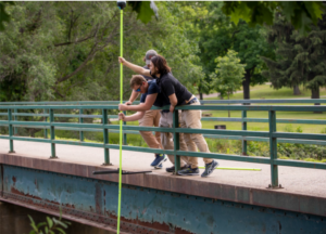 Team members of Hyfi, a water data management service provider, set up a sensor in the Shiawassee National Wildlife Refuge in Saginaw, Michigan in July. Co-founded by Branko Kerkez, a civil and environmental engineering professor at the University of Michigan, Hyfi gives city managers and insurance providers instant access to data about rising water levels. Photo: Robert Coelius/Michigan Engineering, Communications & Marketing