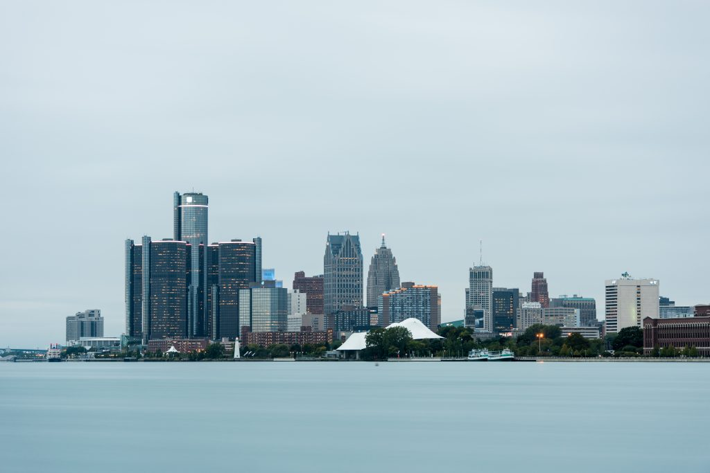 9/19/18 GM's Renaissance Center and the skyline from Belle Isle in Detroit, MI. Image credit: Austin Thomason, Michigan Photography.