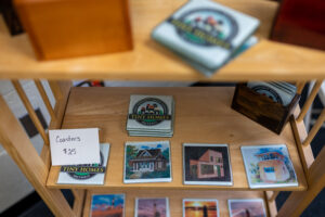 Coaster display at Cass Community Social Services in Detroit. Image credit: Eric Bronson, Michigan Photography