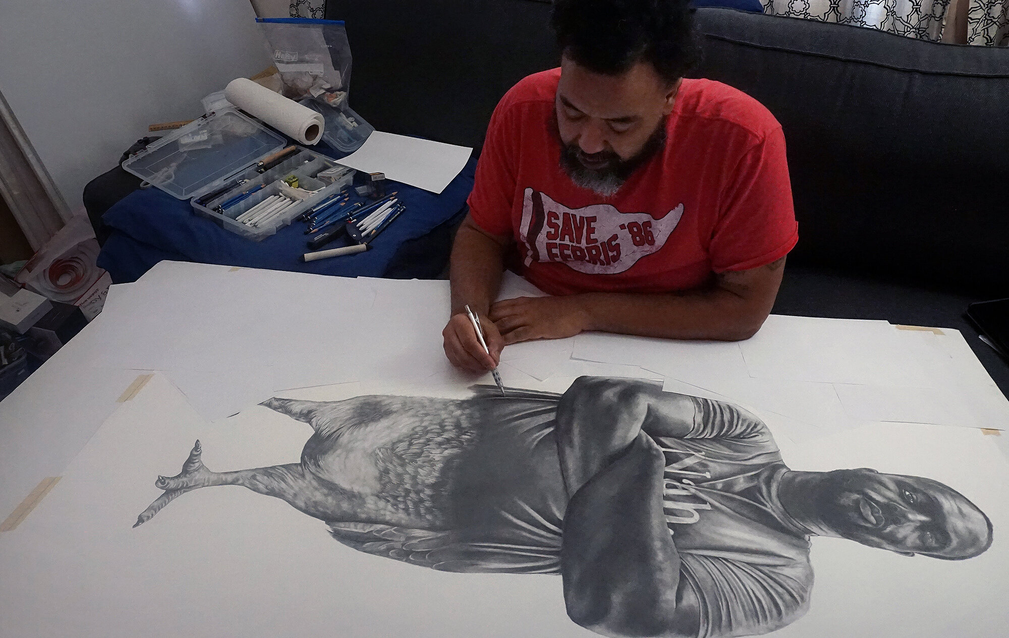 """Rashaun Rucker (pictured) is a Detroit-based multidisciplinary artist who will present new sculptural installations alongside selected works from his praised """"American Ornithology"""" series as part of a new exhibition at the University of Michigan Institute for the Humanities Gallery. Image courtesy: The artist."""