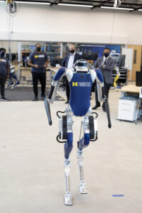 A Digit robot at The University of Michigan. Photo: Joseph Xu, University of Michigan Engineering.