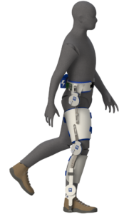 A model of the powered exoskeleton on the hip, knee and ankle joints. The modular system will be able to assist any combination of these joints, no matter the activity. Image credit: Locomotor Control Systems Laboratory, University of Michigan