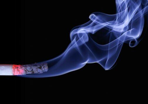 Cigarette, Smoke, Burning Cigarette, Smoking, Ash. Image credit: Ralf Kunze, Pixabay