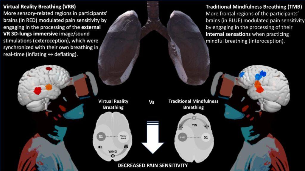 Virtual Reality vs. Traditional Mindfulness study abstract.