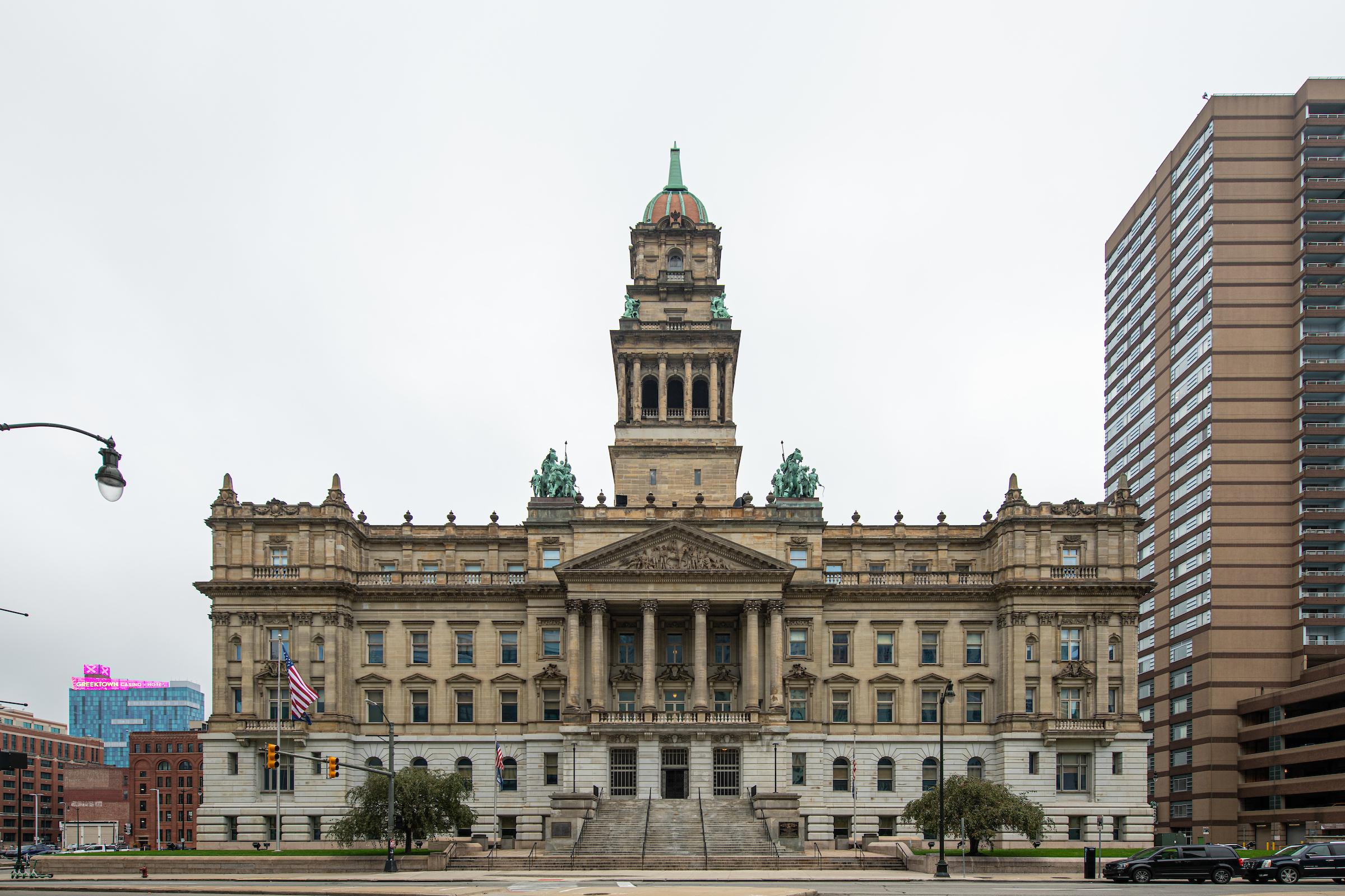 Wayne County Building. Image credit: Austin Thomason, Michigan Photography