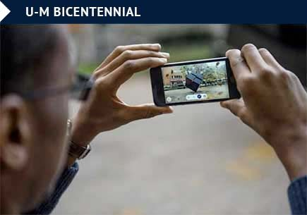 U-M Bicentennial app offers augmented reality experience