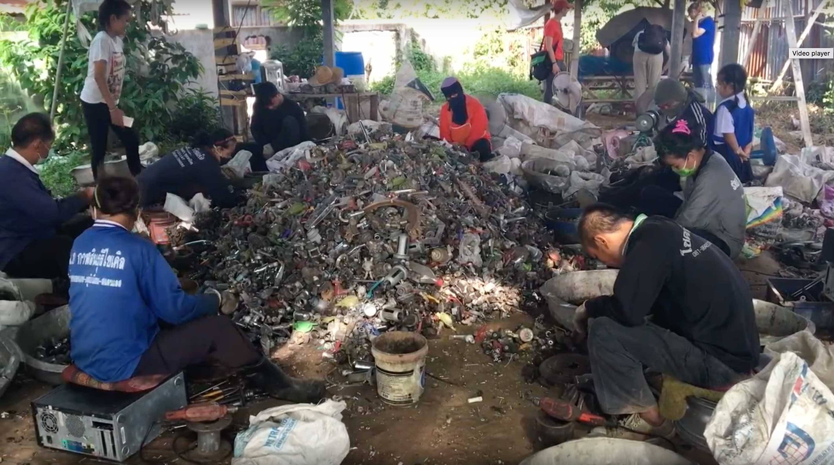 Improving working conditions for e-waste recyclers