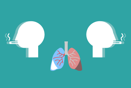 Lung cancer concept illustration. Image credit: Ilma Bilic